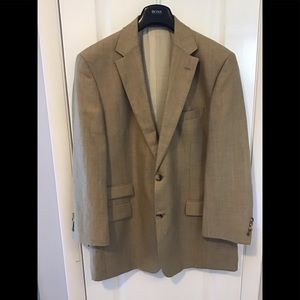 Hugo Boss Sport Coat, Tan subtle Herringbone Wool